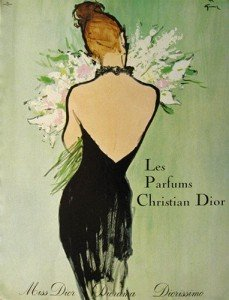 Classic advert for Miss Dior - 1950s